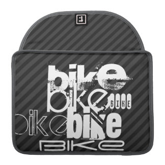 Bici; Rayas negras y gris oscuro Funda Para Macbooks