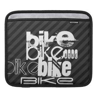 Bici; Rayas negras y gris oscuro Mangas De iPad