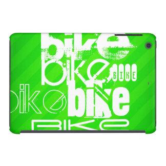 Bici; Rayas verdes de neón Fundas De iPad Mini Retina