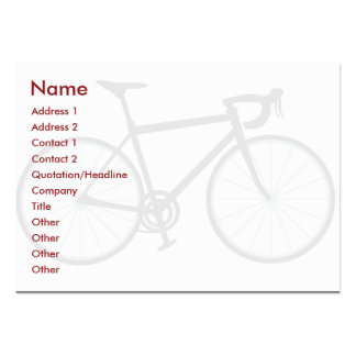 Bici - rechoncha plantilla de tarjeta de negocio
