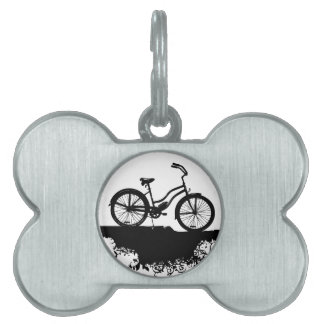 Bici retra del Grunge Placas De Mascota