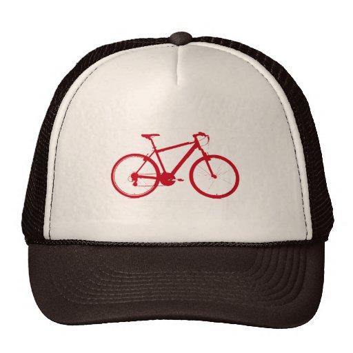 bici roja, completando un ciclo gorra