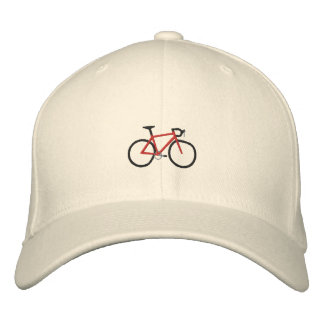 Bici roja del camino gorra de beisbol