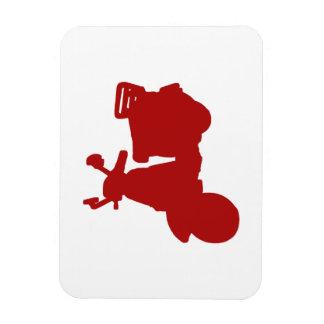 Bici roja del motor imanes flexibles