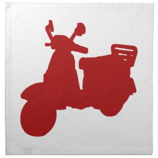 Bici roja del motor servilletas