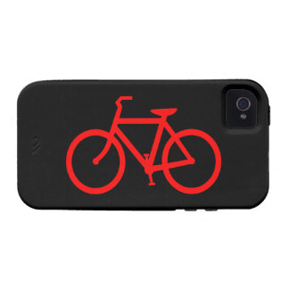 Bici roja vibe iPhone 4 carcasas