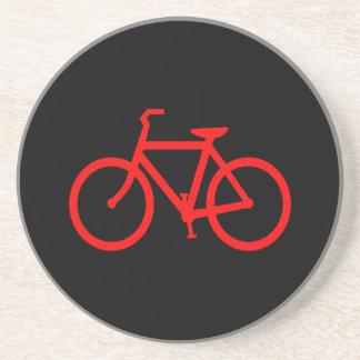 Bici roja posavasos para bebidas