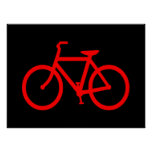 Bici roja póster