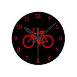 Bici roja relojes de pared