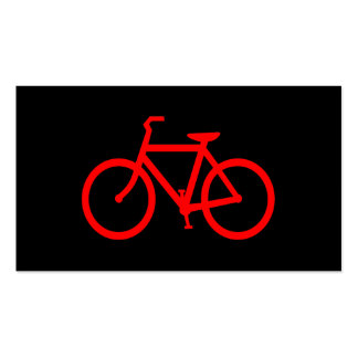 Bici roja tarjetas de visita