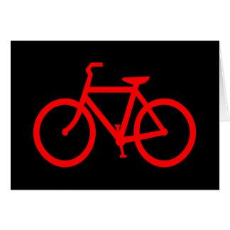 Bici roja tarjeta de felicitación