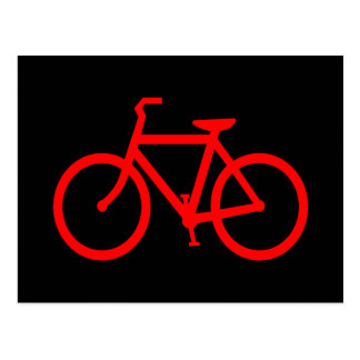 Bici roja tarjetas postales