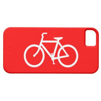 Bici roja y blanca funda para iPhone SE/5/5s