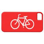 Bici roja y blanca iPhone 5 cárcasa