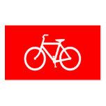 Bici roja y blanca plantilla de tarjeta de negocio