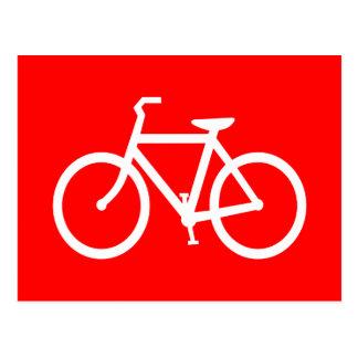 Bici roja y blanca postales