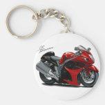 Bici Rojo-Negra de Hayabusa Llaveros Personalizados