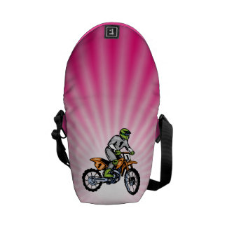 Bici rosada de la suciedad bolsa de mensajeria