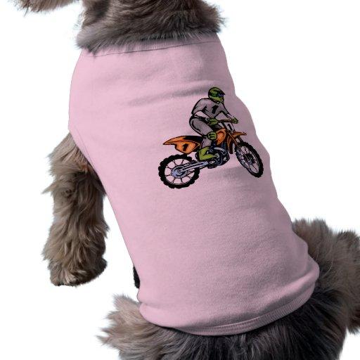 Bici rosada de la suciedad playera sin mangas para perro