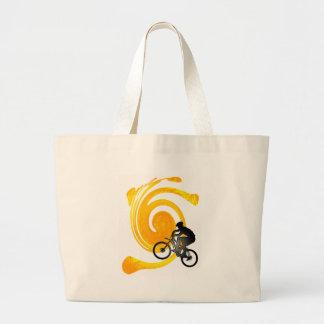 bici siempre nunca bolsa de tela grande