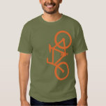 Bici, silueta vertical, diseño anaranjado playeras