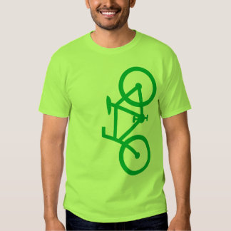 Bici, silueta vertical, diseño verde polera