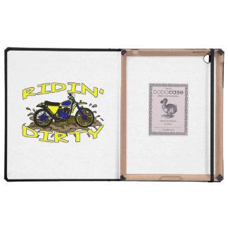 Bici sucia de la suciedad de Ridin en fango iPad Cárcasa