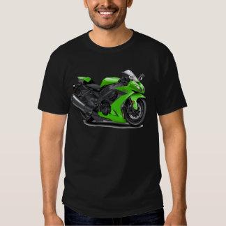 Bici verde de Ninja Playeras