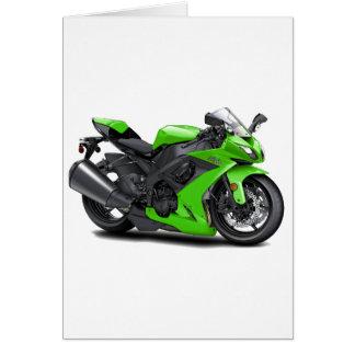 Bici verde de Ninja Felicitación