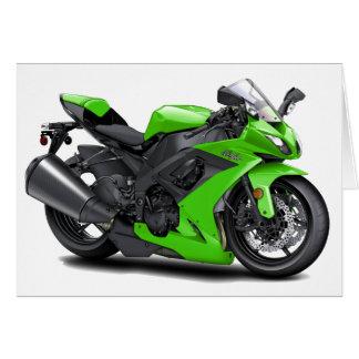 Bici verde de Ninja Tarjetón
