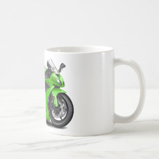Bici verde de Ninja Taza Clásica