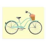 Bici verde de Seafoam Tarjeta Postal