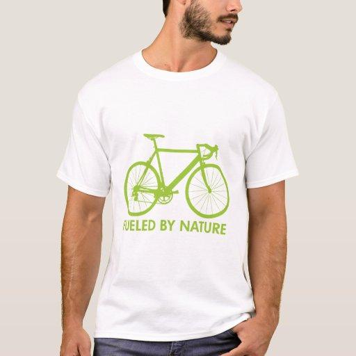 Bici verde del combustible biológico playera