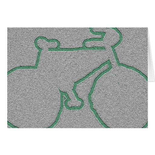 bici verde discreta tarjetas
