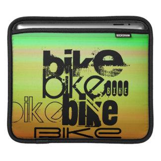 Bici; Verde vibrante, naranja, y amarillo Manga De iPad