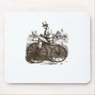 Bici vieja con clase marrón retra del vintage tapetes de ratón