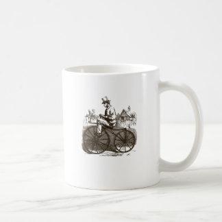 Bici vieja con clase marrón retra del vintage taza