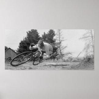 bici vieja rápida póster