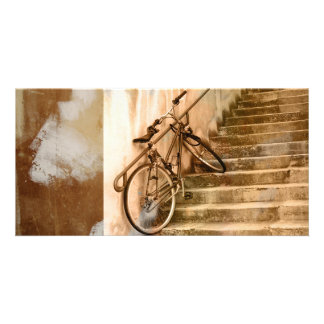 Bici vieja tarjeta fotografica personalizada