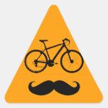 bici y bigote pegatinas trianguladas