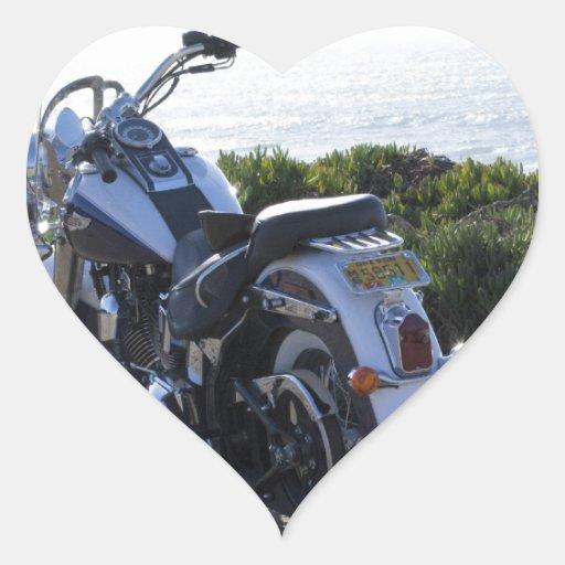 Bici y Ocean_.jpg Pegatina De Corazon Personalizadas