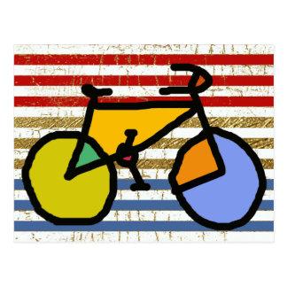 bici y rayas del color postales