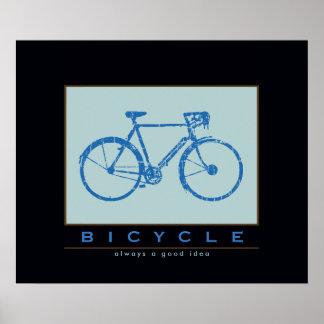 bicicleta agradable. el biking. bici-temático póster