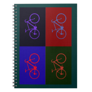 bicicleta agradable. el biking. bici-temático spiral notebooks
