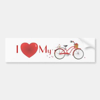 Bicicleta alegre de la cereza pegatina para auto