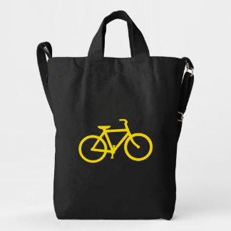 Bicicleta amarilla bolsa de lona duck