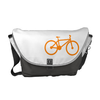 Bicicleta anaranjada bolsa de mensajería
