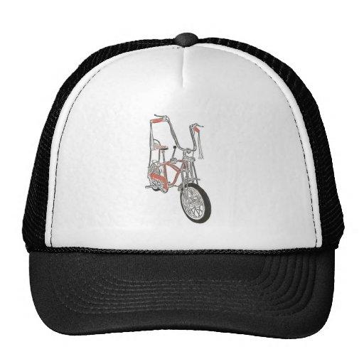 Bicicleta anaranjada clásica de la bici de los año gorro de camionero