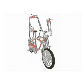 Bicicleta anaranjada clásica de la bici de los tarjeta postal