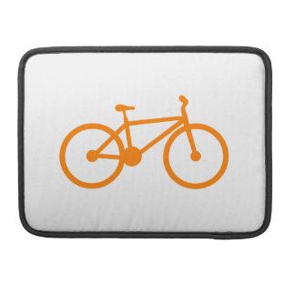 Bicicleta anaranjada funda para macbooks
